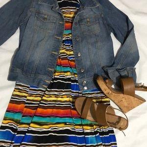 Mlle Gabrielle, size L, multicolored maxi dress
